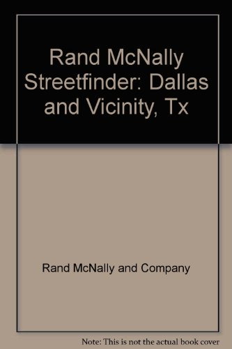 Streetfinder by rand mcnally company abebooks rand mcnally streetfinder dallas and vicinity tx rand mcnally and sciox Choice Image