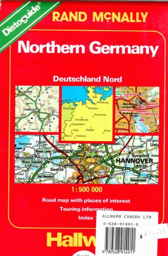 9780528914911: Northern Germany: Road Map With Places of Interest, Touring Information, Index/Distoguide (Hallwag International Road Map) 1:500 000