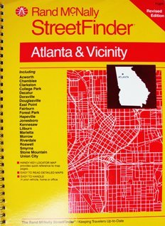 Streetfinder by rand mcnally company abebooks rand mcnally streetfinder atlanta and vicinity rand mcnally and sciox Choice Image