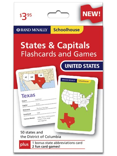 Rand Mcnally Schoolhouse U.s. States & Capitals Flashcards And Games (9780528934674) by Rand McNally