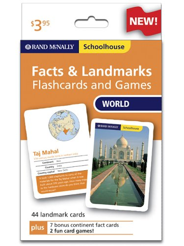 9780528934681: Rand Mcnally Schoolhouse World Facts & Landmarks Flashcards And Games