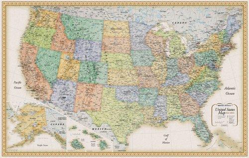 9780528934759: Rand Mcnally United States Wall Map (Classic Edition United States Wall Map)
