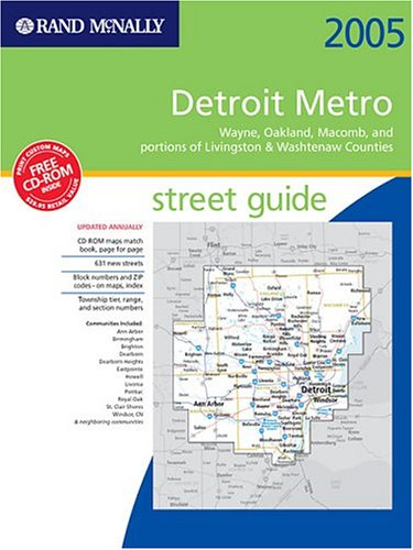 9780528954887: Rand McNally Detroit Metro Street Guide 2005: Wayne, Oakland, and Portions of Livingston & Washtenaw Counties