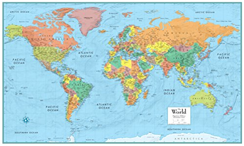 9780528959943: M Series World Deluxe Laminated 50x32 (M Series Map of the World)