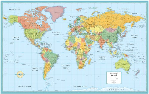9780528959967: World Reduced Map (M Series World Wall Maps)