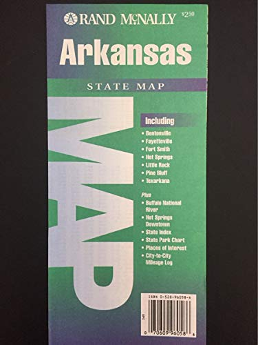 9780528960581: Arkansas Rand McNally Etats (Cartes des etats)