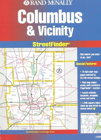 Streetfinder by rand mcnally company abebooks rand mcnally columbus streetfinder rand mcnally streetfinder rand mcnally and sciox Choice Image