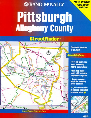Streetfinder by rand mcnally company abebooks rand mcnally pittsburghallegheny co streetfinder rand mcnally rand mcnally and sciox Image collections