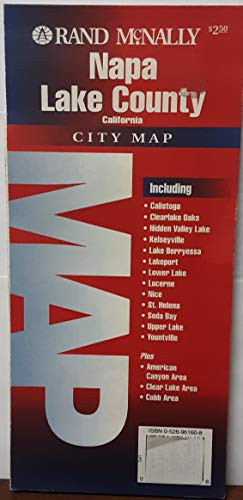 9780528980770: Napa & Lake Counties (Rand McNally City Maps)