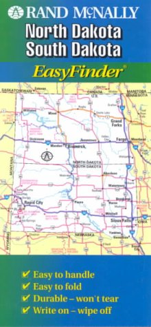 9780528985133: Rand McNally North Dakota/South Dakota Easyfinder Map (Rand McNally Easyfinder)