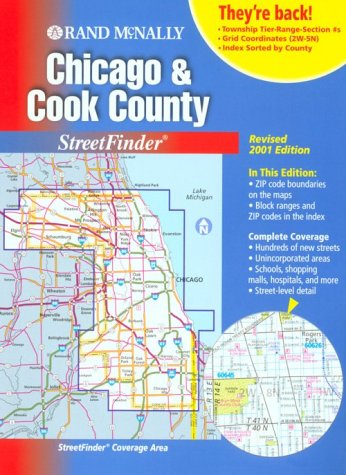 9780528987021: Rand McNally Chicago and Cook County Streetfinder 2001 (Rand Mcnally Streetfinders)