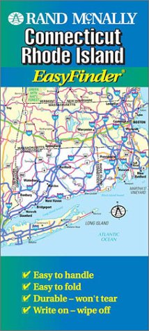 9780528988011: Rand McNally Connecticut/Rhode Island Easy Finder Map ...