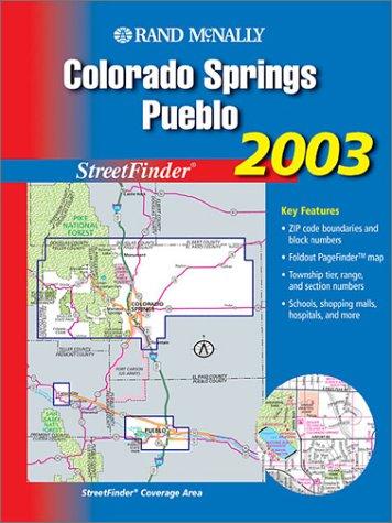 9780528992070: Rand McNally Colorado Springs, Pueblo Streetfinder