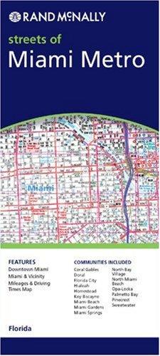 9780528993411: Rand McNally Miami Metro Florida: Local Street Detail (Rand McNally City Maps)
