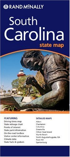 9780528994814: Rand McNally South Carolina State Map