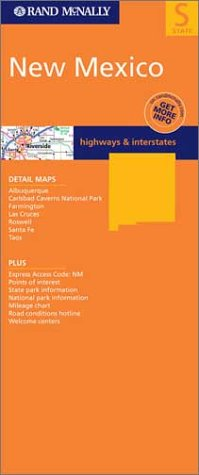 9780528998614: Rand McNally New Mexico State Map (State Maps-USA)