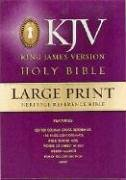 9780529033710: Large Print Heritage Reference Bible-KJV