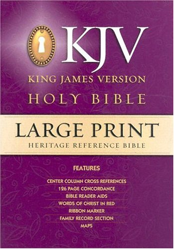 9780529033727: Large Print Heritage Reference Bible-KJV