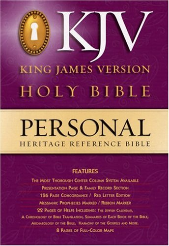 9780529057648: Holy Bible: The Heritage Reference Bible/Burgundy/850Cbg