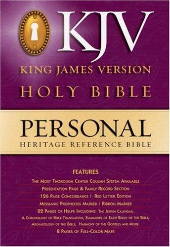9780529057648: KJV Heritage Personal Reference Bible