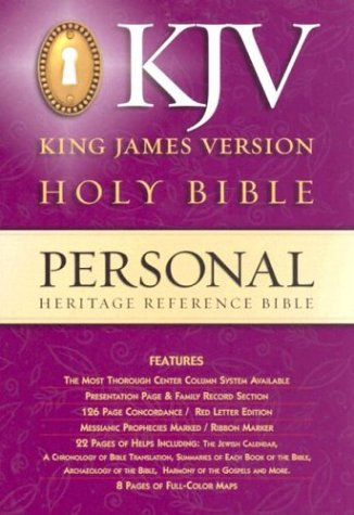 9780529060242: Heritage Personal Reference Bible-KJV