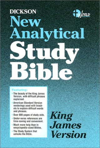 9780529062222: Dickson New Analytical Study Bible-KJV