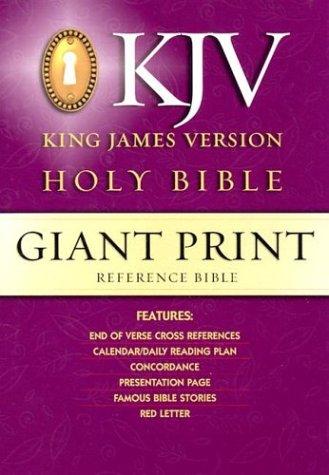 9780529063434: Giant Print Reference, King James Version Bible/Black Gp50