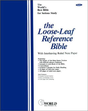 9780529063946: Loose-Leaf Reference Bible
