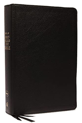 9780529100702: NKJV, Spirit-Filled Life Bible, Third Edition, Genuine Leather, Black, Red Letter Edition, Comfort Print: Kingdom Equipping Through the Power of the Word