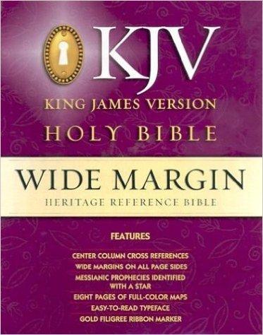 9780529101242: King James Version Heritage Wide Margin Red Letter Genuine Leather Black