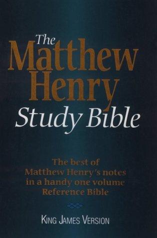 9780529102539: The Matthew Henry Study Bible: King James Version