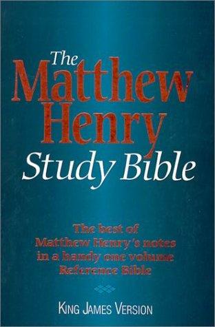 9780529102966: KJV - Matthew Henry Study Bible