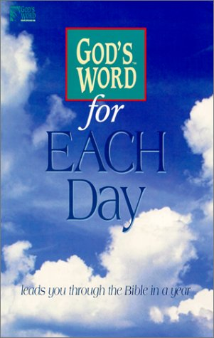 9780529104687: God's Word for Each Day (God's Word Series)