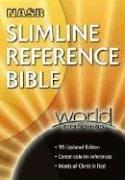9780529109583: Slimline Reference Bible: New American Standard Update / Black Bonded Leather