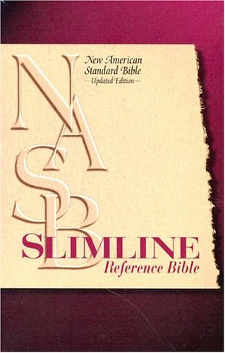 9780529109613: Slimline Reference Bible: New American Standard Update / Blue Bonded Leather