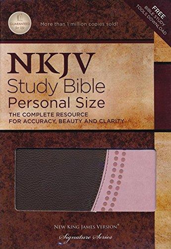 9780529110374: NKJV Study Bible, Imitation Leather, Pink & Brown