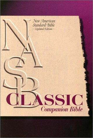 9780529110619: Classic Companion Bible: New American Standard Update / Black Bonded Leather