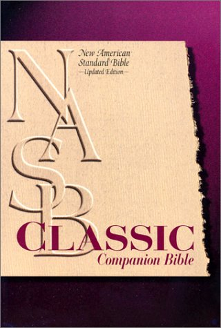 9780529110633: Classic Companion Bible: New American Standard Update / Burgundy Bonded Leather