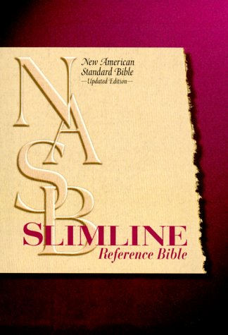 9780529111074: Slimline Reference Bible: New American Standard Update / Burgundy Bonded Leather With Snap Flap