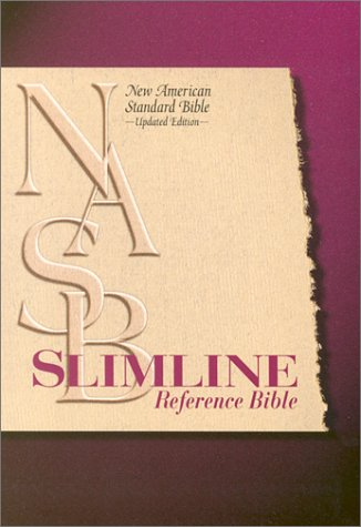 9780529111081: Slimline Reference Bible: New American Standard Update / Black Leather