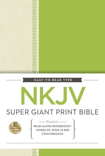 9780529112187: NKJV, Super Giant Print Reference Bible, Giant Print, Hardcover, Red Letter Edition