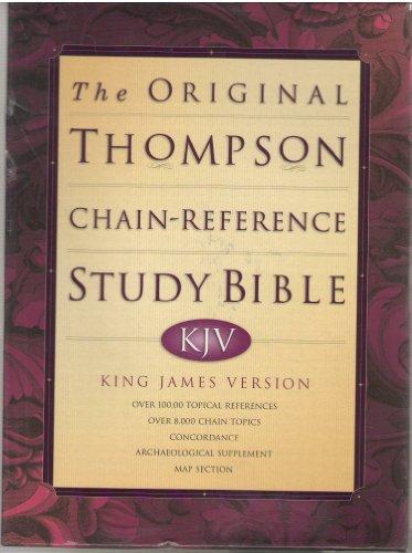 Original Thompson Chain-Reference Study Bible KJV King James Version