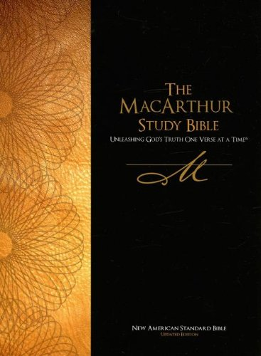 9780529122568: The MacArthur Study Bible: New American Standard Bible, Black Genuine Leather, Indexed