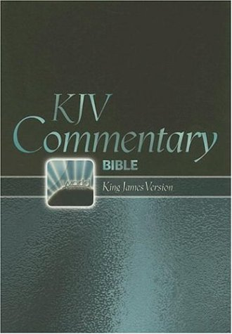 9780529123749: King James Version Commentary Bible: King James Version, Burgundy Dual-Grained Bonded Leather, Thumb Indexed, Large Print, Red letter Edition