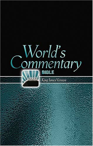 9780529123756: Commentary Bible: King James Version, World's Visual Reference System, Black Dual Grained Bonded Leather, Red Letter Edition