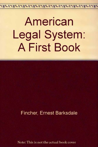 9780531041000: American Legal System: A First Book