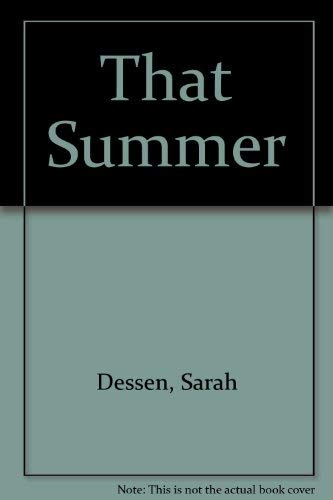 9780531095386: That Summer