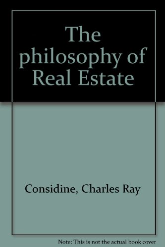 9780533025268: The Philosophy of Real Estate