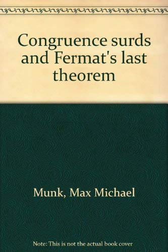 9780533028245: Congruence surds and Fermat's last theorem