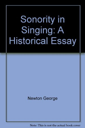 9780533058631: Sonority in singing: A historical essay
